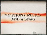 for 2 phony rocks and a snag by edward kienholz