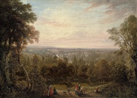 a view from richmond hill by george hilditch