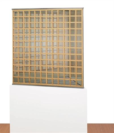 triangular pavilion with shoji screen by dan graham