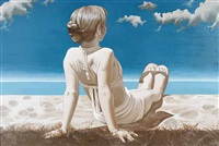 girl on the beach no.2 by marie louise kreyes