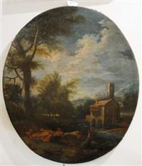 paesaggio con figure by italian school-genoa (18)