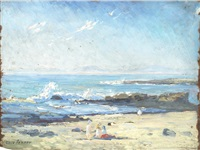 the seashore (+ southampton water; pair) by alice maud fanner