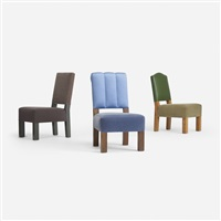 collection of three chairs for the young residence, chicago (set of 3) by roy mcmakin