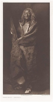 black eagle - assiniboin by edward sheriff curtis