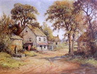 rural village in autumn by george a. newman
