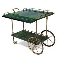carrello con ripiani mobili, struttura by aldo tura