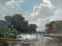 sunbury weir, lower thames by alexander carruthers gould