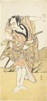 otani hiroji iii as a samurai (+ nakamura sukegoro; 2 works) by katsukawa shunsho