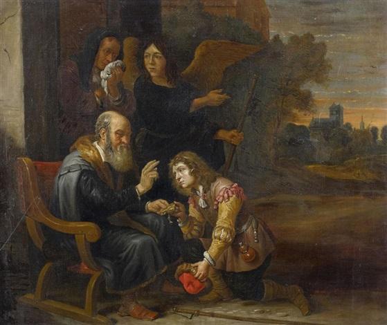 der engel vor der familie des tobias by david ryckaert iii