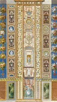 pilaster loggia iv (from loggie di rafaele nel vaticano) by giovanni volpato