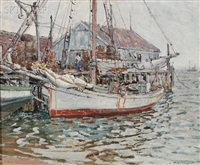 provincetown dock by aldro thompson hibbard