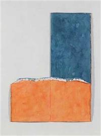ohne titel - komposition in blau und orange by victor sanovec