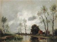 holländische landschaft by a. herbe