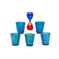 clessidre and five tumblers (6 works) by gio ponti