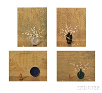 still lifes (4 works) by alphonse t. toran
