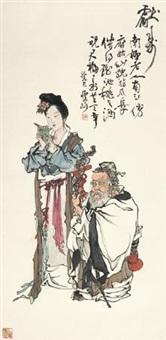 献寿图 by liu huaishan