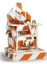 mini electric chair by tom sachs