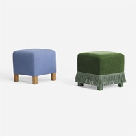 pair of ottomans for the young residence, chicago (pair) by roy mcmakin