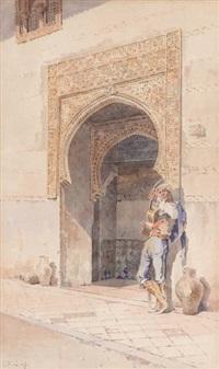 guitariste devant mosquée by angelos giallina