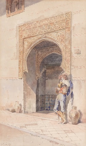 guitariste devant mosquée by angelos giallina