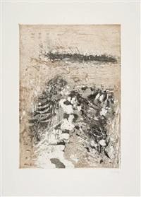 zwischen bodden und meer - lüttenort (portfolio of 6 w/colophon & text) by otto niemeyer-holstein