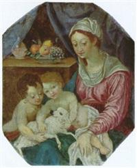 madonna mit kind und johannesknaben und dem lamm gottes by johann mathias kager