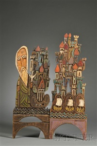 byzantine revival plaques (2 works) by jonathan kendall