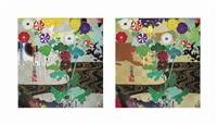 kansei platinum; kansei gold (2 works) by takashi murakami