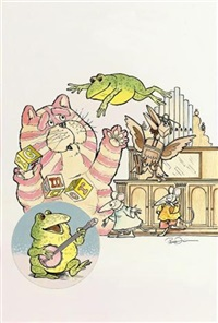 gabriel sings a song for bagpuss, professor yaffle and the mice by peter firmin