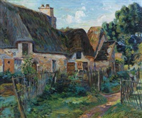 village en île de france by armand guillaumin