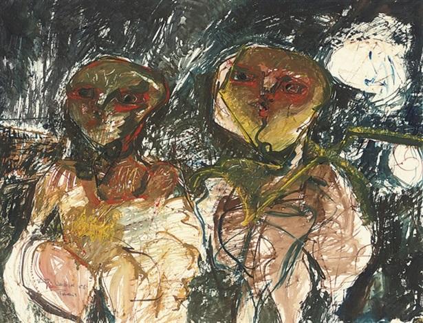 two figures by kiro urdin