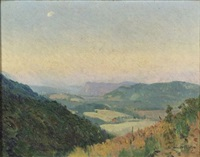 moonrise over the valley by alfred conway peyton