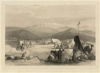 sketches in afghaunistan - the encampment at dadur (+ 6 others; 7 works) by james atkinson