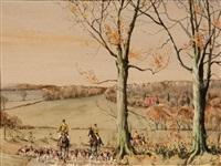 english fox hunting scene by graham smith