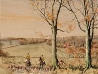english fox hunting scene by graham smith