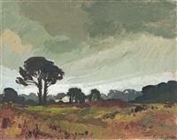 landscape by piet (pieter gerhardus) van heerden