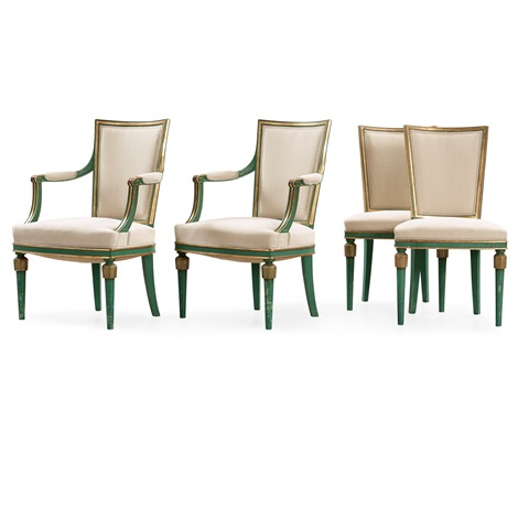A Set Of Two Armchairs And Two Chairs U0027mariebergu0027 By Axel Einar Hjorth