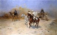 die karawane in der wüste by thaddaus von ajdukiewicz