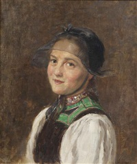 portrait of a young lady by wilhelm g. hasemann