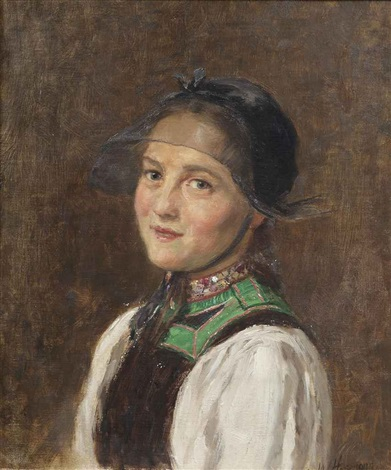 portrait of a young lady by wilhelm g hasemann