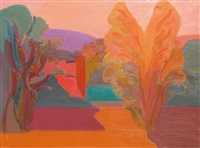 paysage coloré by mikhail konov