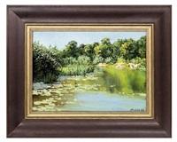 an idyllic pond by yevgeni gololobov