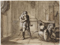 il re di cipro ed una gentildonna, recto, abbozzo per il re di cipro ed una gentildonna, verso by pietro benvenuti