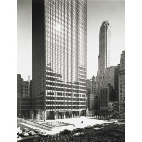 seagram building exterior elevations 2 works by ezra stoller
