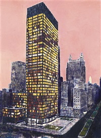 seagram building, new york by enoc perez