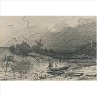 landscape (dbl-sided) by fyodor alexandrovich vasil'yev