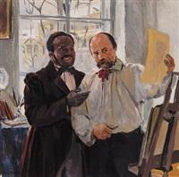 der maler und sein modell by louis picard