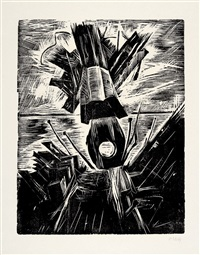 das meer (portfolio of 6 w/colophon & text by johannes r. becher) by otto niemeyer-holstein