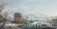 winterliches eisvergnügen by albert-alexandre lenoir