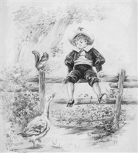 illustration of a child by thelma cudlipp grosvenor